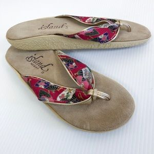 Island Hawaii Flip Flop Thong Sandals Fan Print 8